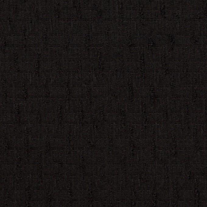 ウール×無地(ブラック)×ジャガード イメージ1