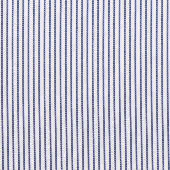コットン×ストライプ(ブルー)×サージ_全2色
