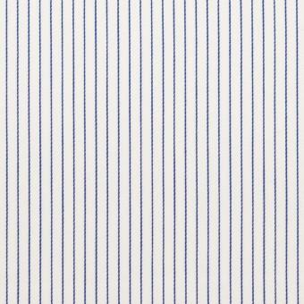 コットン×ストライプ(ブルー)×サテン_全2色