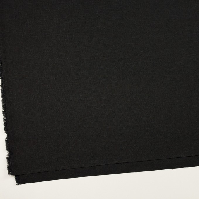 リネン&ビスコース混×無地(チャコールブラック)×サージストレッチ_イタリア製 イメージ2