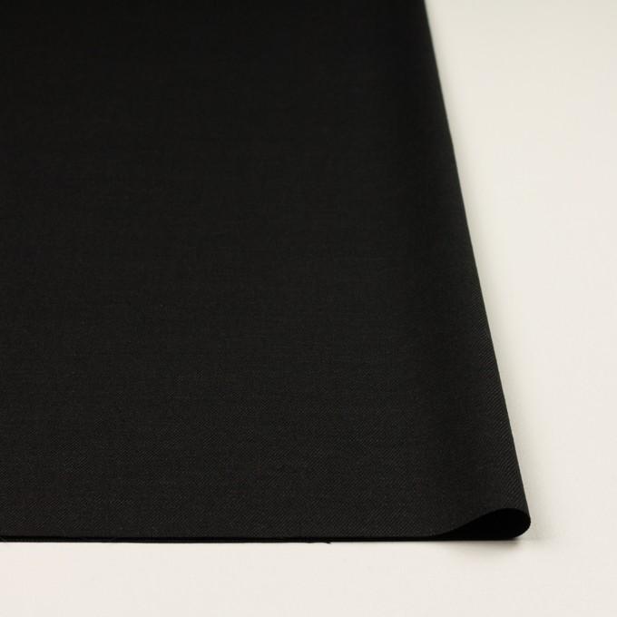 リネン&ビスコース混×無地(チャコールブラック)×サージストレッチ_イタリア製 イメージ3