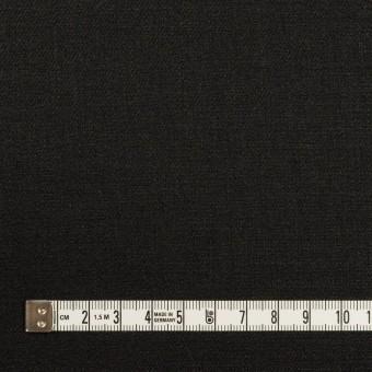リネン&ビスコース混×無地(チャコールブラック)×サージストレッチ_イタリア製 サムネイル4
