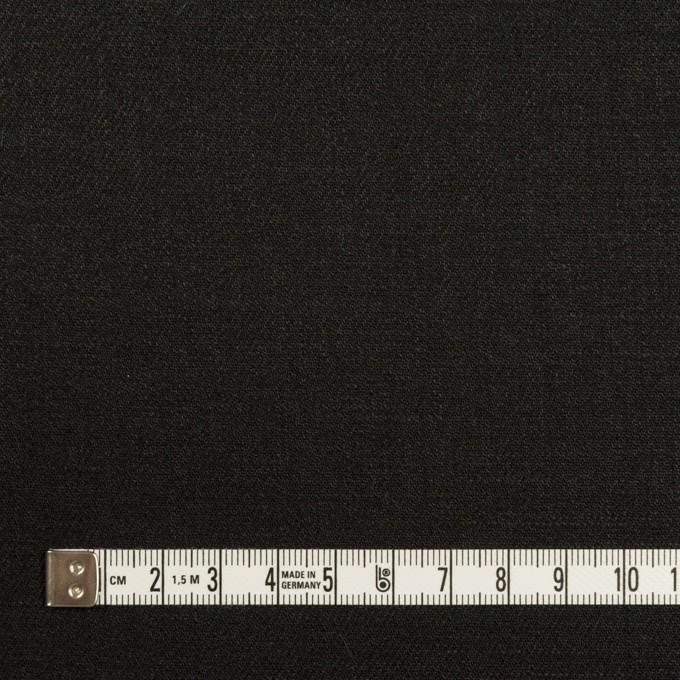 リネン&ビスコース混×無地(チャコールブラック)×サージストレッチ_イタリア製 イメージ4