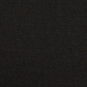 リネン&ビスコース混×無地(チャコールブラック)×サージストレッチ_イタリア製