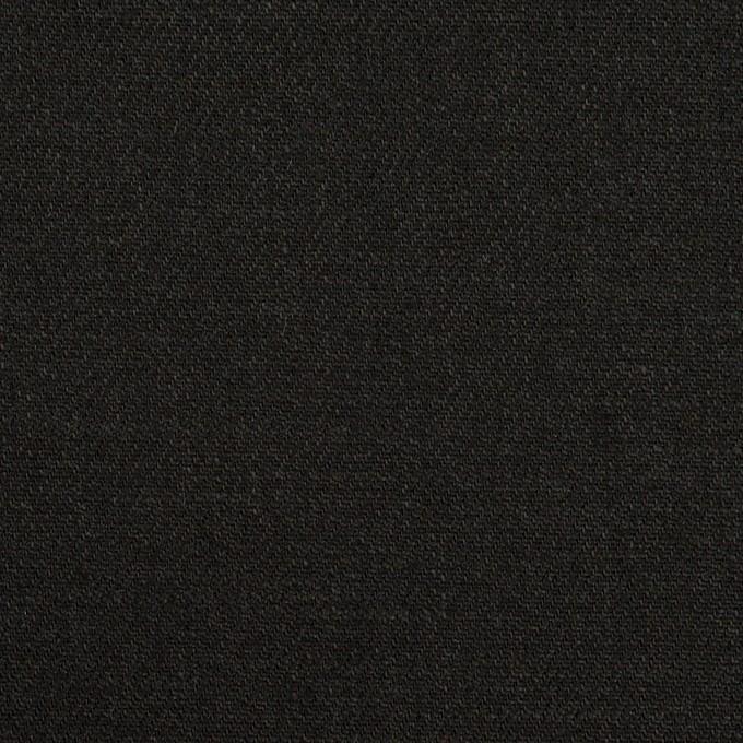 リネン&ビスコース混×無地(チャコールブラック)×サージストレッチ_イタリア製 イメージ1