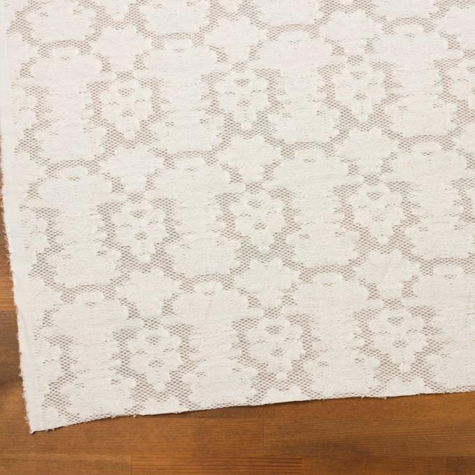 コットン&ナイロン×幾何学模様(ミルク)×オーガンジー・カットジャガード イメージ2