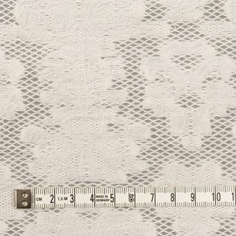 コットン&ナイロン×幾何学模様(ミルク)×オーガンジー・カットジャガード サムネイル4