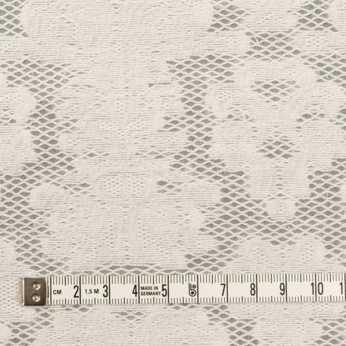 コットン&ナイロン×幾何学模様(ミルク)×オーガンジー・カットジャガード イメージ4