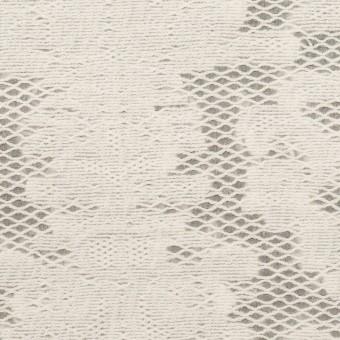 コットン&ナイロン×幾何学模様(ミルク)×オーガンジー・カットジャガード