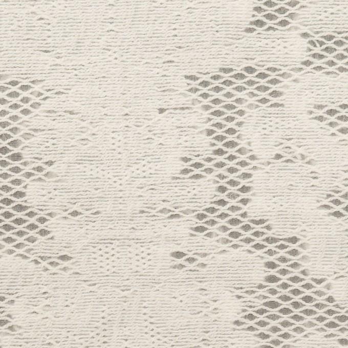 コットン&ナイロン×幾何学模様(ミルク)×オーガンジー・カットジャガード イメージ1