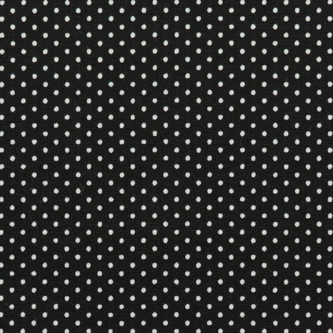 コットン×ドット(ブラック)×ブロード_全2色 イメージ1