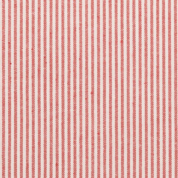コットン&ポリエステル×ストライプ(レッド)×シーチング_全2色 イメージ1