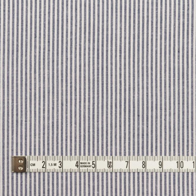 コットン&ポリエステル×ストライプ(ネイビー)×シーチング_全2色 イメージ4
