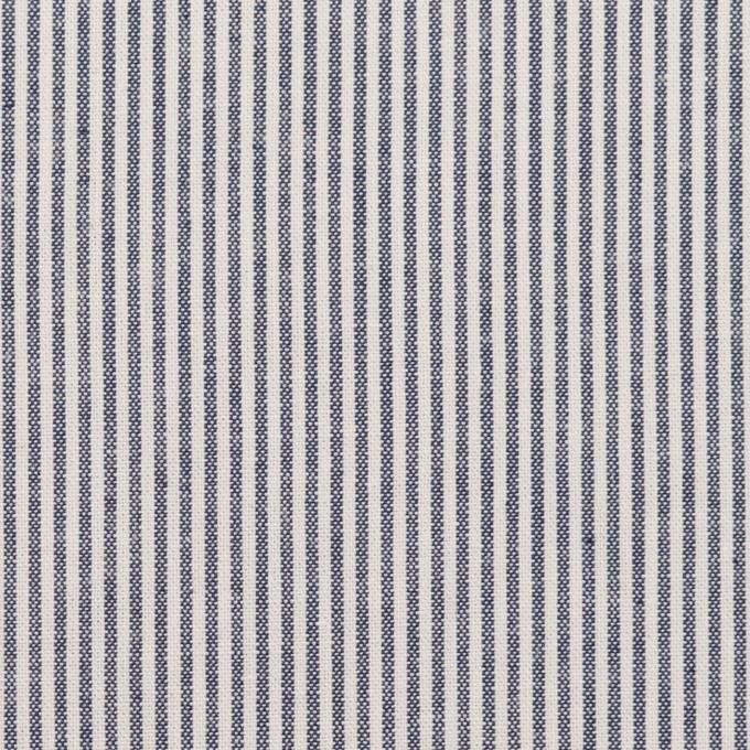コットン&ポリエステル×ストライプ(ネイビー)×シーチング_全2色 イメージ1