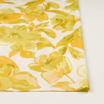 レーヨン&リネン×フラワー(イエロー&オフホワイト)×薄キャンバス_全5色 サムネイル3