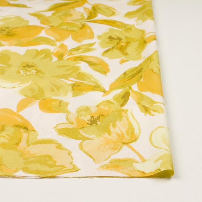 レーヨン&リネン×フラワー(イエロー&オフホワイト)×薄キャンバス_全5色 イメージ3