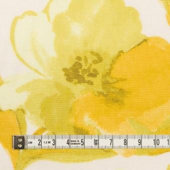 レーヨン&リネン×フラワー(イエロー&オフホワイト)×薄キャンバス_全5色 サムネイル4