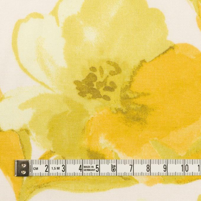 レーヨン&リネン×フラワー(イエロー&オフホワイト)×薄キャンバス_全5色 イメージ4