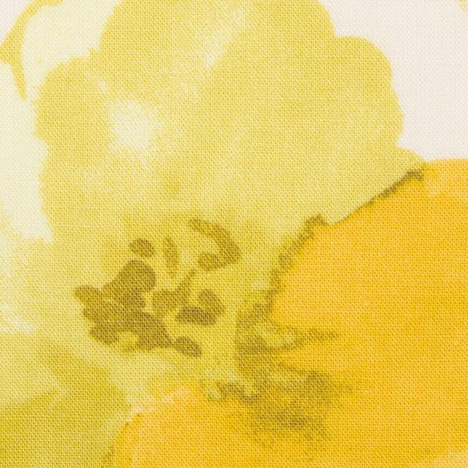 レーヨン&リネン×フラワー(イエロー&オフホワイト)×薄キャンバス_全5色 イメージ1