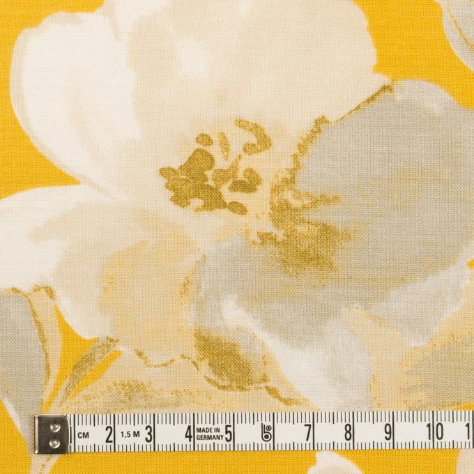 レーヨン&リネン×フラワー(カーキグレー&マスタード)×薄キャンバス_全5色 イメージ4