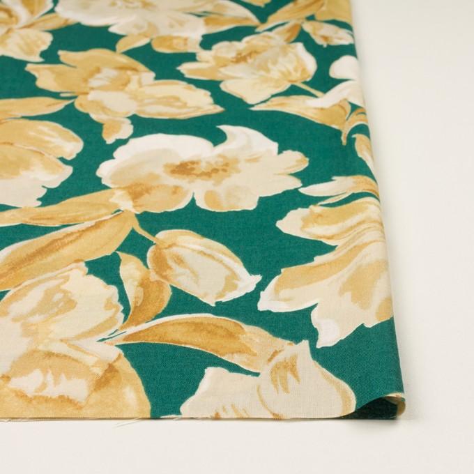 レーヨン&リネン×フラワー(ベージュ&クロムグリーン)×薄キャンバス_全5色 イメージ3