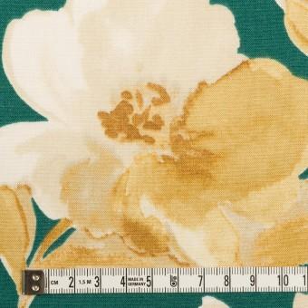レーヨン&リネン×フラワー(ベージュ&クロムグリーン)×薄キャンバス_全5色 サムネイル4