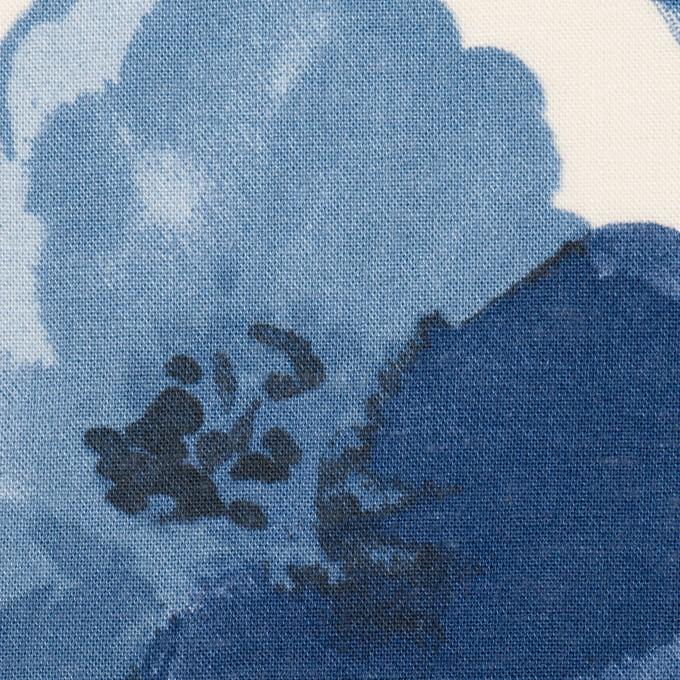 レーヨン&リネン×フラワー(ブルー&オフホワイト)×薄キャンバス_全5色 イメージ1