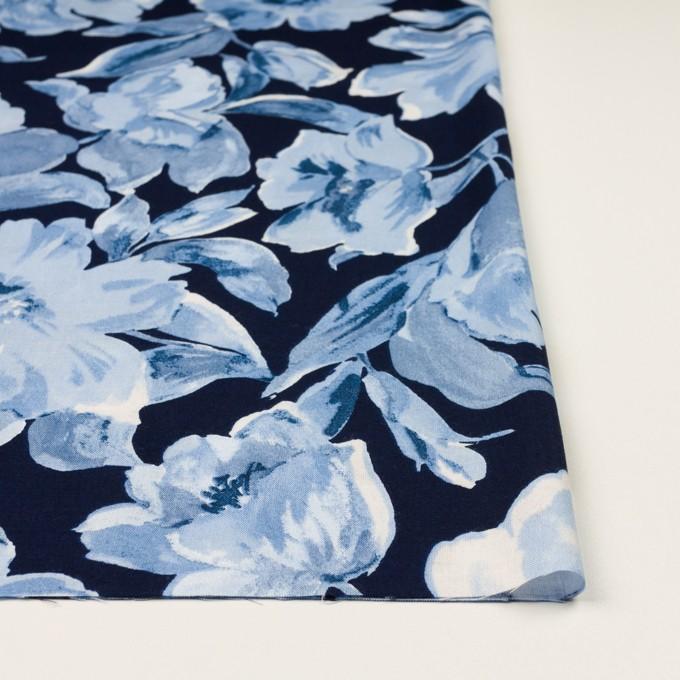 レーヨン&リネン×フラワー(ブルー&ネイビー)×薄キャンバス_全5色 イメージ3