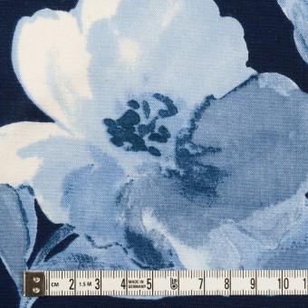 レーヨン&リネン×フラワー(ブルー&ネイビー)×薄キャンバス_全5色 サムネイル4