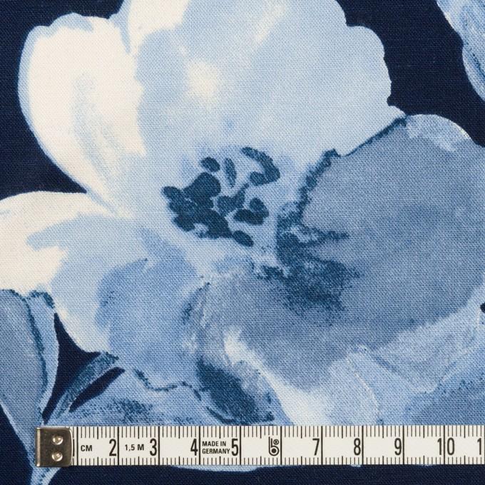 レーヨン&リネン×フラワー(ブルー&ネイビー)×薄キャンバス_全5色 イメージ4