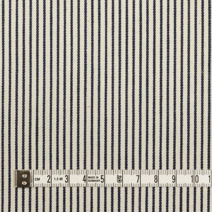 コットン×ストライプ(キナリ&インディゴ)×デニムヒッコリー(6oz) イメージ4