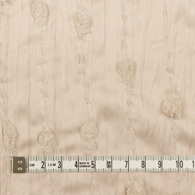 ポリエステル×ストライプ(ウォームベージュ)×サテンジャガード・ワッシャー イメージ4