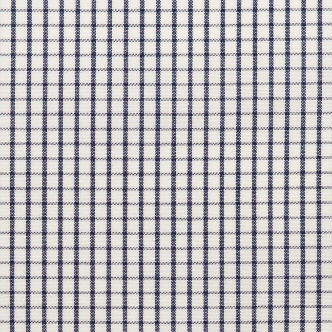 コットン×チェック(ネイビー)×ブロード_全2色 イメージ1