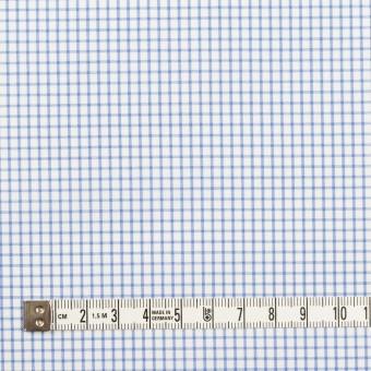 コットン×チェック(サックス)×サージ_全2色 サムネイル4