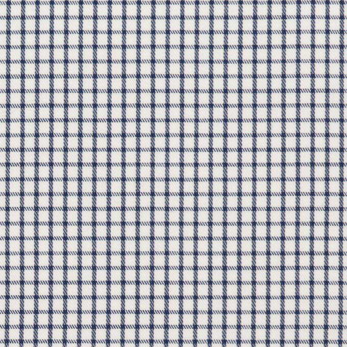 コットン×チェック(ネイビー)×サージ_全2色 イメージ1