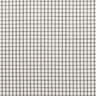 コットン×チェック(ブラック)×サテン