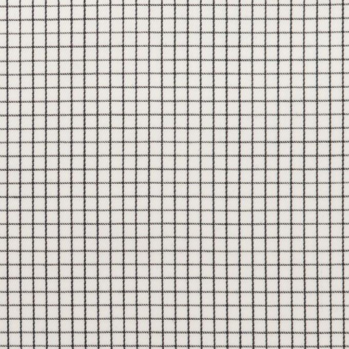 コットン×チェック(ブラック)×サテン イメージ1