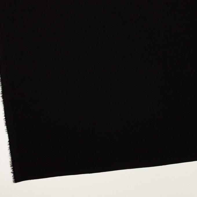 ポリエステル&トリアセテート×無地(ブラック)×バックサテン・ジョーゼット イメージ2