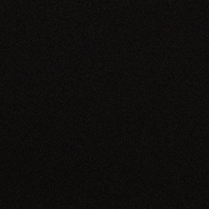 ポリエステル&トリアセテート×無地(ブラック)×バックサテン・ジョーゼット イメージ1