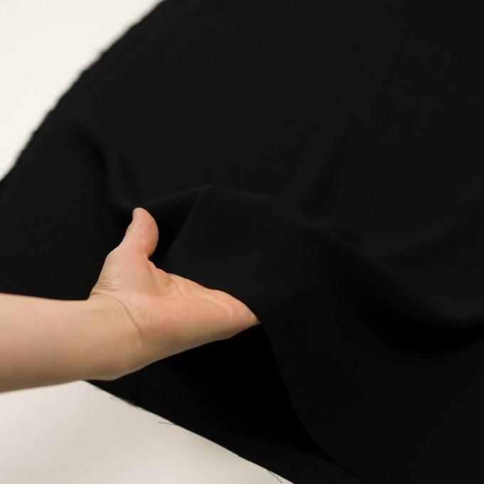 ポリエステル&トリアセテート×無地(ブラック)×バックサテン・ジョーゼット イメージ5
