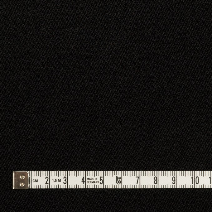 ポリエステル&トリアセテート×無地(ブラック)×バックサテン・ジョーゼット イメージ6