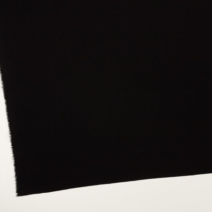 トリアセテート&ポリエステル×無地(ブラック)×バックサテン・ジョーゼット イメージ2