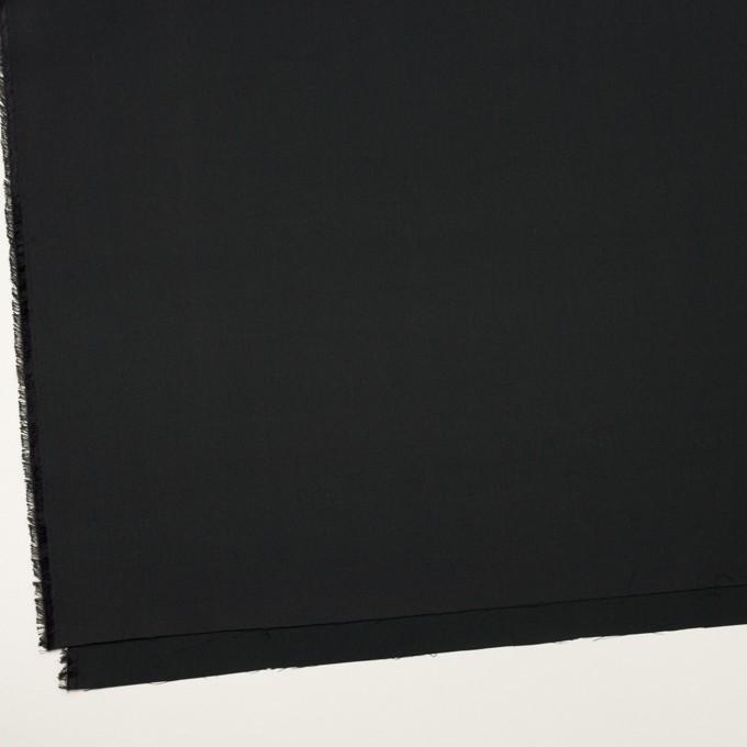 コットン&シルク×無地(チャコールブラック)×二重織 イメージ2