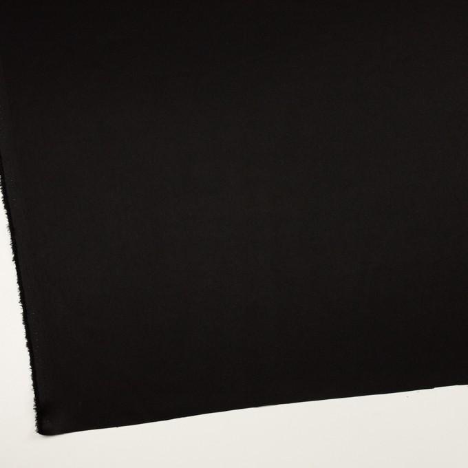 トリアセテート&ポリエステル×無地(ブラック)×サージ イメージ2