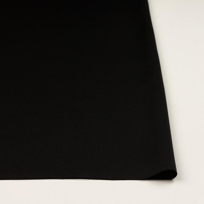 トリアセテート&ポリエステル×無地(ブラック)×サージ イメージ3