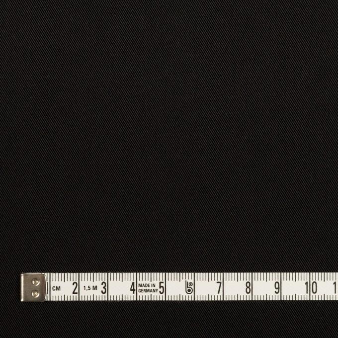 トリアセテート&ポリエステル×無地(ブラック)×サージ イメージ4