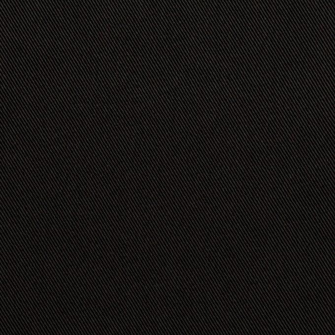 トリアセテート&ポリエステル×無地(ブラック)×サージ イメージ1