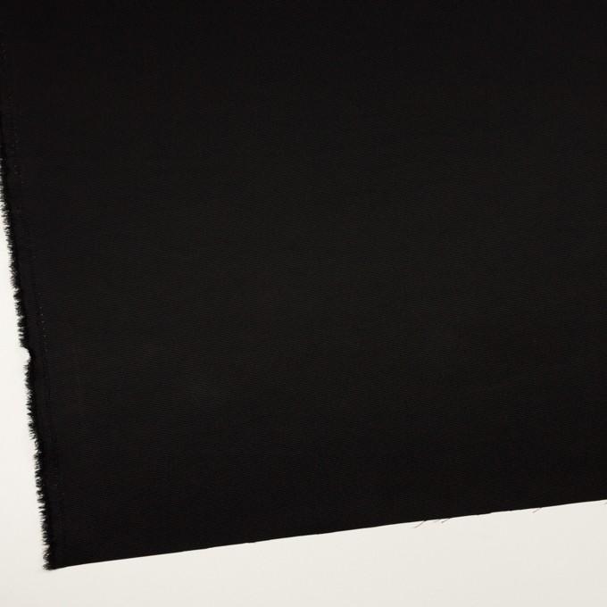 トリアセテート&ポリエステル×無地(ブラック)×グログラン イメージ2