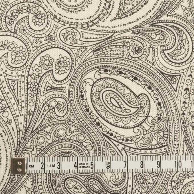 コットン&ポリウレタン×ペイズリー(エクリュ&ブラック)×サージストレッチ_イタリア製 イメージ4