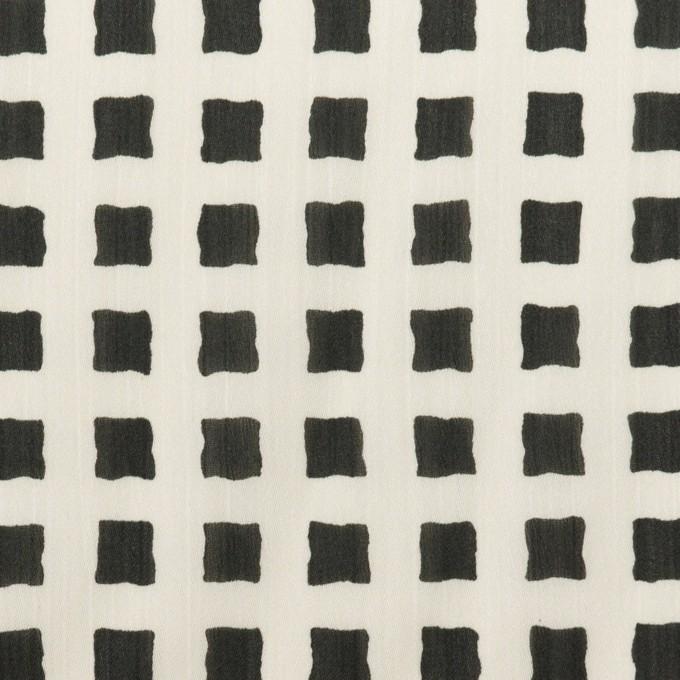 ポリエステル×スクエア(ミルク&ブラック)×ジョーゼット イメージ1